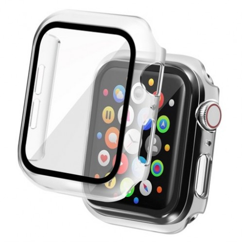 Apple Watch Tempered Glass Screen Case Full Coverage Tempered Glass Screen Protector Protection All-Around Surround Overall Case Cover