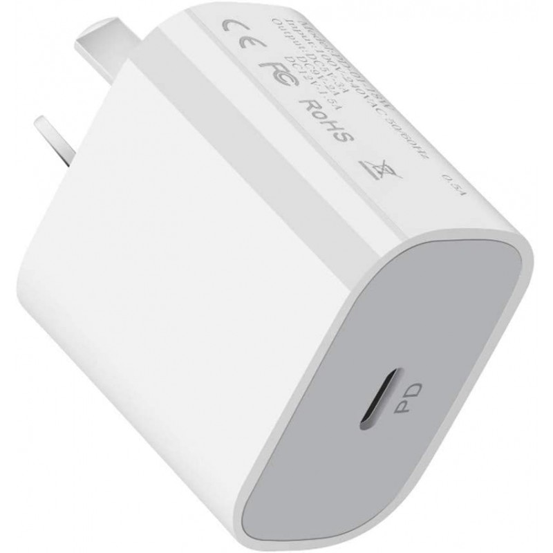 PD Charger for iPhone 12, 20W USB-C Power Adapter PD Wall Plug Fast Charging Block