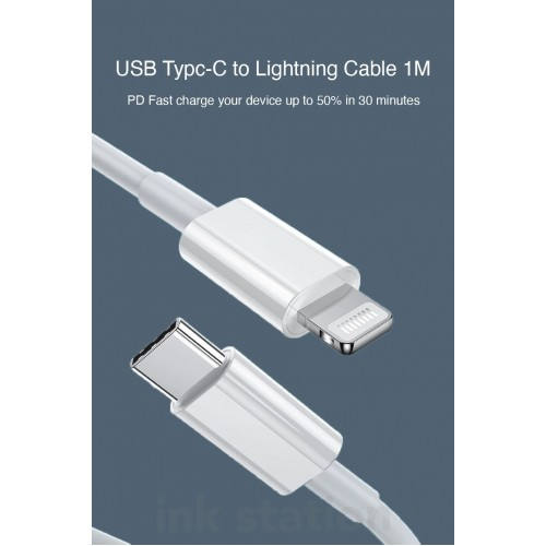 Genuine  USB-C to Lightning Cable Fast Charging Sync with Type C PD Charger for iPhone 12 Mini 12 Pro Max 11 Pro Max XR 8 Plus AirPods iPad
