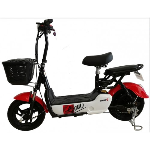 Powerful Street electric scooter with backseat basket City Scooter