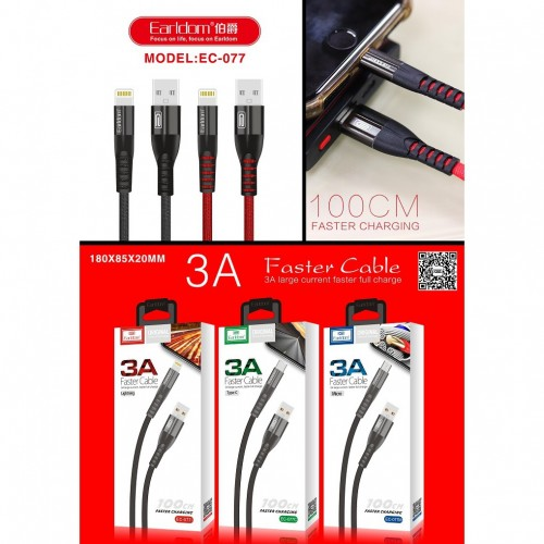 3a earldom lightning fast charging data cable