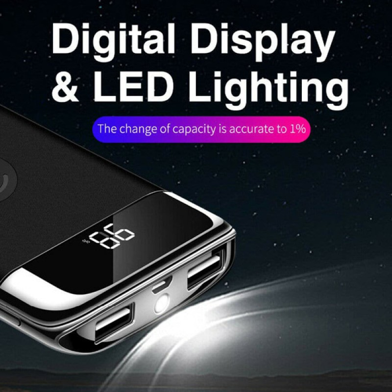 CLEARANCE WIRELESS CHARGING POWER BANK 12000MaH
