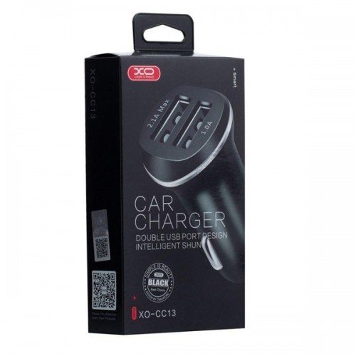 XO CAR CHARGER WITH DOUBLE USB PORTS CC13