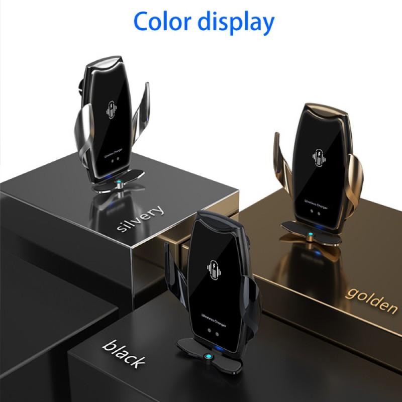 A8 Smart Sensor Car Wireless Fast Charger Phone Holder AC vent holder