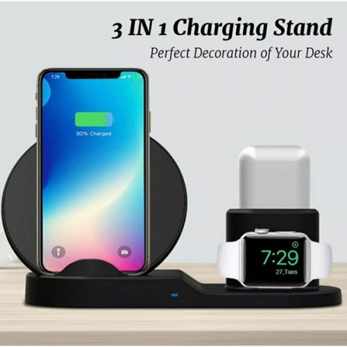 3 in 1 Fast Charge dock iPhone Samsung Apple Watch AirPods charger android iOS
