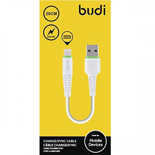 BUDI CABLE CHARGE/SYNC 20CM CABLES LIGHTNING