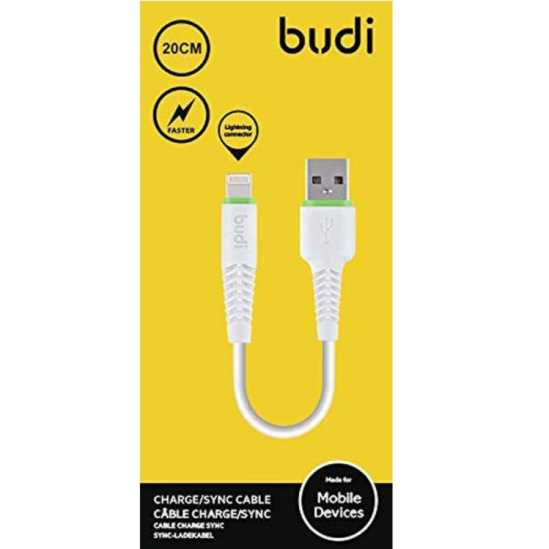 BUDI CABLE CHARGE/SYNC 20CM CABLE LIGHTNING
