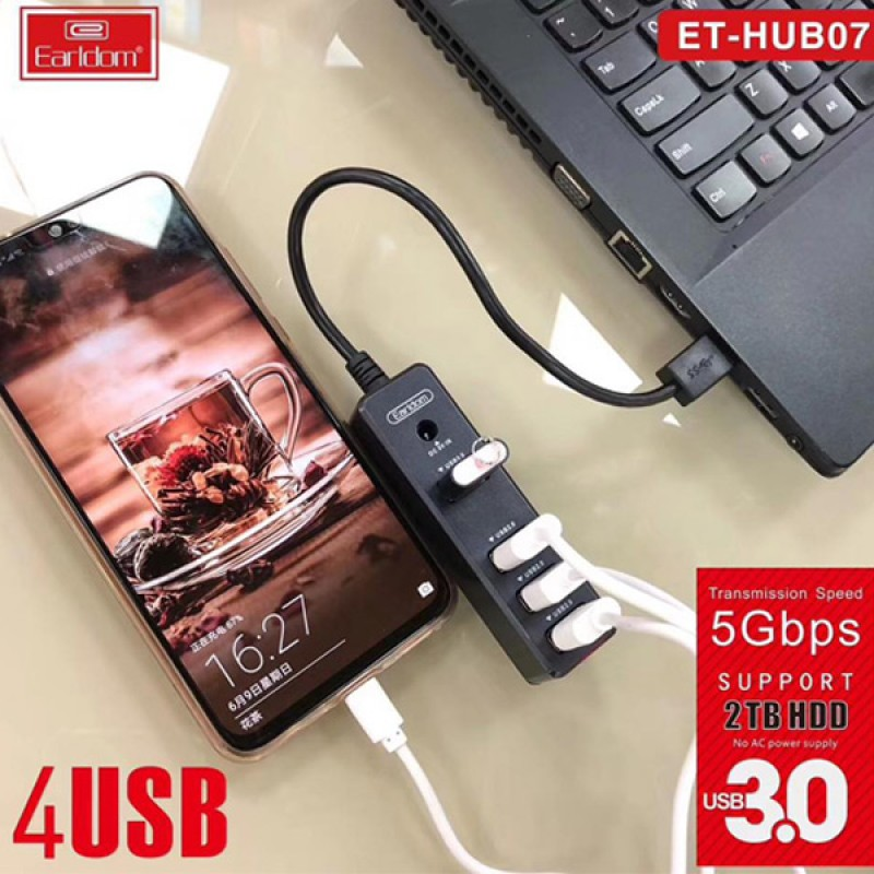 Earldom ET-HUB07 4USB ports with fast data transfer