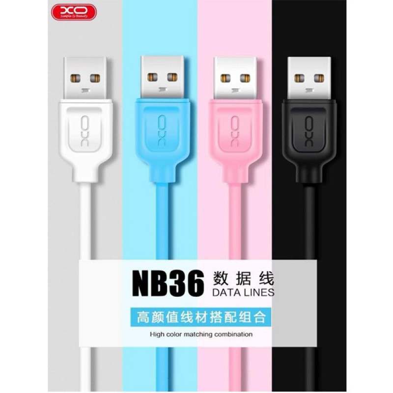 XO QUICK CHARGER FAST DATA CABLE 2.1A TYPE C SAMSUNG OPPO HUAWEI NB36 CABLES