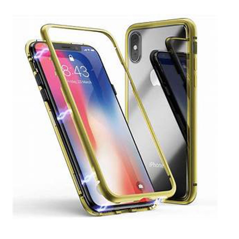 Baseus Magnetic Hardware Frame With Back Screen Glass Case iPhone