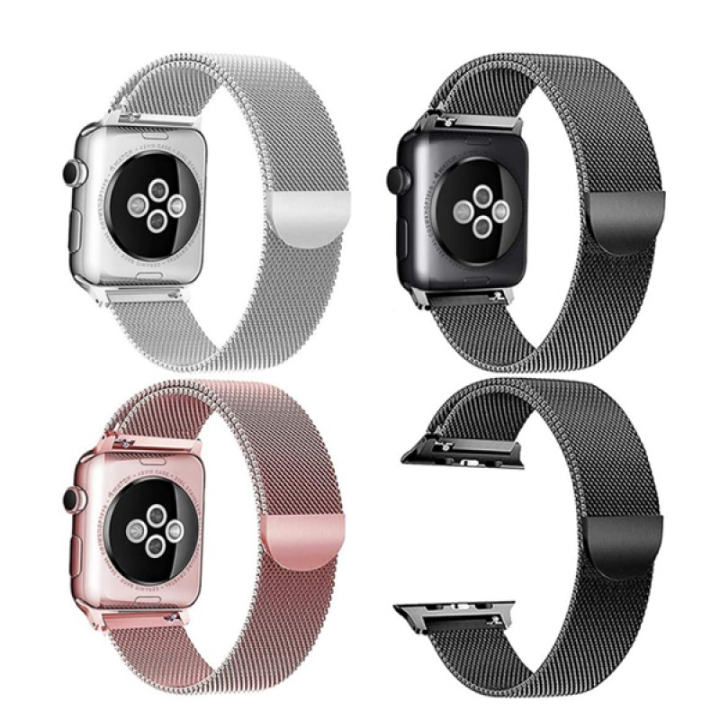 Apple Watch Band Metal Stainless Steel Milanese Loop Wristband Strap 77311331